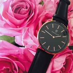 Who knew a black watch could be so feminine? Daniel Wellington, Feminine, Watches, Leather, Accessories, Collection, Black, Fashion, Girly