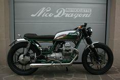 "Moto Guzzi V35 #14 ""Ea""- Nico Dragoni Motociclette"