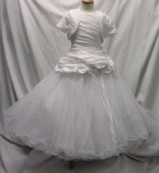 DABI LP80269 White Communion Dress + Bolero 6 TO 10yrs