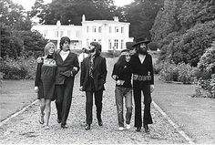 """August 22, 1969: The Beatles' Final Photo Shoot  """"The Fab Four with Yoko Ono and Linda McCartney at Tittenhurst Park"""""""