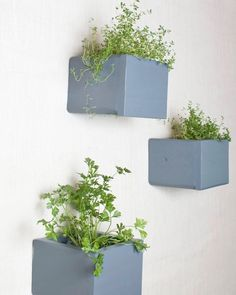 Wall Storage Organizer Box Shelf, Wall Cubes - Set of 3 Boxes - Large - Wall Cubby -  Gray, Grey - 1001 Ways. $43.75, via Etsy.
