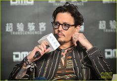 Celeb Diary: Johnny Depp attending a press conference for his new movie Transcendence in Beijing, China