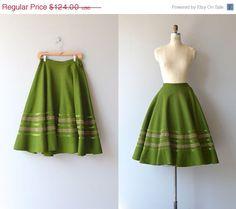 SALE 25% OFF... Olea skirt  1950s felted wool skirt  by DearGolden