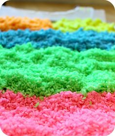 Color your own rainbow rice  DiY project  #kid friendly #craft