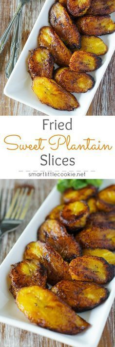 Fried Sweet Plantain Slices (Platanos Maduros Fritos) ~ Scrumptious sweet, ripe plantains fried to perfection. Simple and easy, this is the best appetizer or side dish for any meal. Jamaican Recipes, Mexican Food Recipes, Vegetarian Recipes, Cooking Recipes, Healthy Recipes, Ethnic Recipes, Healthy Breakfasts, Oven Recipes, Carribean Food
