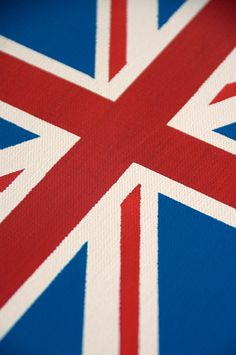 Detail of the Union Jack canvas I created for my Son's room.