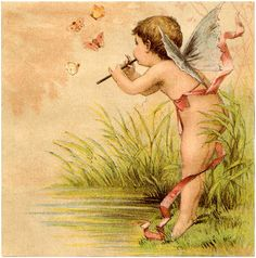 Vintage Fairy Baby Image - Darling! - The Graphics Fairy