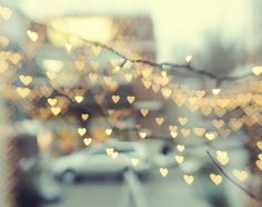 Heart lights in the city