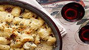 Gnocchi with Blue Cheese Sauce and Pancetta Recipe | Wine Pairing | Gold Medal Wine Club