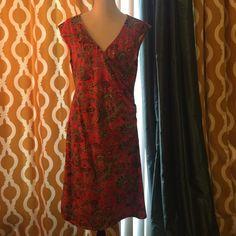 Ralph Lauren paisley faux wrap dress Red paisley Ralph Lauren faux wrap dress. Soft fabric. Perfect condition; never worn. Ralph Lauren Dresses Midi