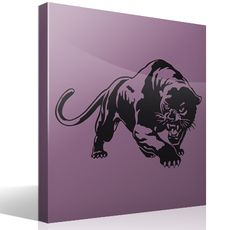 This decorative vinyl of a panther has the elegant lines and the ferocity of this animal. Panther, Wall Stickers Animals, Decoration Stickers, Fauna, Darth Vader, Fictional Characters, Mural Painting, Murals, Paintings