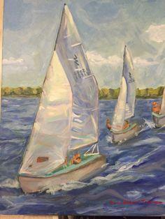 Lynn Moss sailing painting