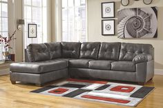 Buy Alliston DuraBlend® - Gray LAF Corner Chaise with RAF Sofa by Signature Design from www.mmfurniture.com. Sku: 2010216-67. $678.59