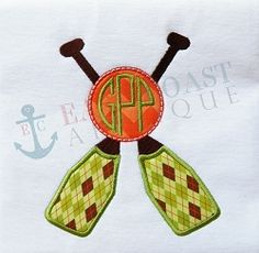 Rowing Monogram Applique - 5 Sizes! | What's New | Machine Embroidery Designs | SWAKembroidery.com East Coast Applique