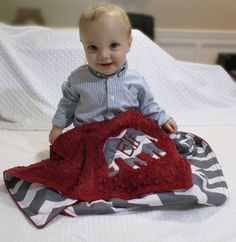 Alabama Crimson Tide Inspired Chevron Blanket by WithLoveBoutiqueAL on Etsy https://www.etsy.com/listing/160995746/alabama-crimson-tide-inspired-chevron