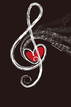 luv this wallpaper! music note wallpaper with a heart and trailing mini music notes how cute!❤️ Hd Wallpaper Desktop, Twitter Cover, Ipad Pro, Iphone, Logos, Painting, Instagram, Musica, Wallpapers