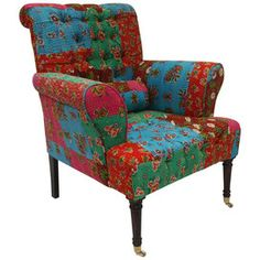 Krishna Arm Chair  I actually love thes colors! LF