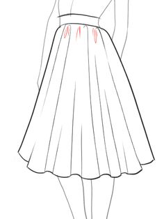 How-to-draw-a-flare-full-skirt-step-by-step-tutorial--9