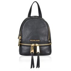 MICHAEL MICHAEL KORS Rhea Extra Small Backpack ($255) ❤ liked on Polyvore featuring bags, backpacks, white backpack, leather knapsack, leather daypack, white bag and michael michael kors