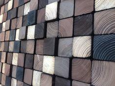 Abstracte acryl schilderen op hout teruggewonnen hout kunst