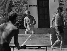 Paul Newman and Robert Redford bond over ping-pong.Share this on Facebook?