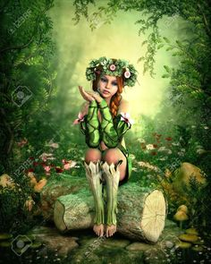 blonde girl with mushrooms - Google Search