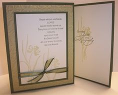 Love & Sympathy in Greens by Shelly923 - Cards and Paper Crafts at Splitcoaststampers