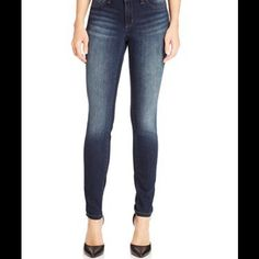 """JESSICA SIMPSON SKINNY JEANS Jessica Simpson dark wash skinny jeans. Versatile denim at its best. Features ample fading and super slim-cut leg with button closure and zipper fly. Inseam approx 28"""".  Size 30 Short. Fits 9/10 Jessica Simpson Jeans Skinny"""