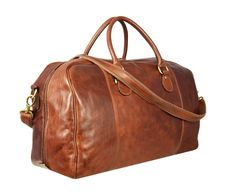 Leather Duffel Bag Cabin Travel Bag Leather Bag by TimeResistance