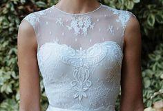 Lace bridal toptwo piece wedding dressVintage by SharonKatzDesign