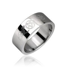 Pentacle Surgical Steel Ring Size 9 ** You can get additional details at the image link. (This is an affiliate link)