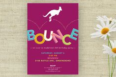 Bounce House Birthday Party Invitation Printable Custom Personalized (Digital File)