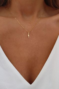 Fashion Necklace Dainty Necklace Lightning Necklace Zuni Earrings 1 Ca – clotheoo Dainty Gold Necklace, Cute Necklace, Dainty Jewelry, Simple Necklace, Cute Jewelry, Jewelry Accessories, Diamond Earrings, Jewelry Box, Jewelry Armoire