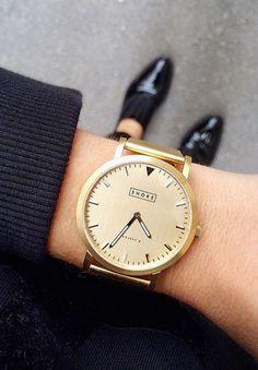 Classic gold watch