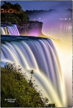 Waterfall 3 - And back to USA trip ;)  Night shot from Niagara Falls.