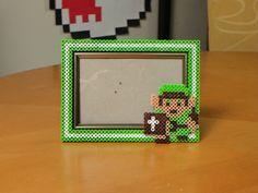 The Legend of Zelda picture frame perler beads by kiimberrr
