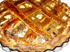 Tourte aux poireaux et Fourme d'Ambert  http://www.carmen-cuisine.com/article-tourte-aux-poireaux-et-fourme-d-ambert-119911399.html