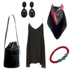 Bracelets, earrings, scarf and bag www.myla.es