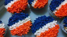 Broncos football cupcakes