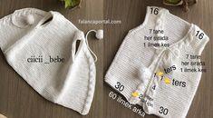 Season ' s trendiest Baby Cardigan Vest tricô modelos Knitting For Kids, Baby Knitting Patterns, Crochet For Kids, Crochet Baby, Baby Cardigan, Knit Vest, Crochet Designs, Trendy Baby, Baby Dress
