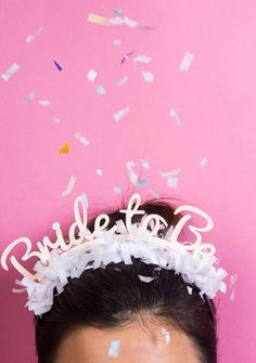 This gold bride headband is a fun hen party headband accessory. It also works as a cool hen party prop and is great for photos. Bridal Shower Bingo, Unique Bridal Shower, Bridal Showers, Shower Party, Bride Headband, Wedding Headband, Bridal Crown, Bachelorette Party Decorations, Bachelorette Parties