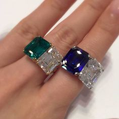 'Toi et Moi' rings. Like me and a carat Colombian emerald or me and a carat Burmese sapphire. If I was a diamond that is. Emerald ring by lot sapphire ring lot 2100 in our Hong Kong 'Magnificent Jewels' sale on December