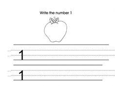 Number 1 Preschool Worksheet | Numbers - Preschool | Pinterest ...