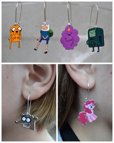 *Rook No. 17: recipes, crafts & whimsies for spreading joy*: DIY: Custom Earrings With Your Favorite Characters (Shrink! Shrank! Shrunk! Book Review and Giveaway) #MLPFIM #Adventuretime