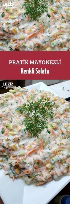 Practical mayonnaise salad Aşçılık recipes to grill salad salad salad salad recipes grillen rezepte zum grillen Mayonnaise, Casserole Recipes, Crockpot Recipes, Perfect Salad Recipe, Salad Recipes, Snack Recipes, Good Food, Yummy Food, Turkish Recipes