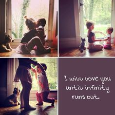 Sister love: I will love until infinity runs out (which is never). -unknown. Love this quote!