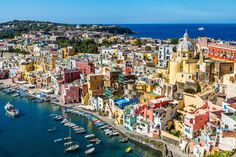 Procida. The smallest of the three most popular islands in the Bay of Naples, Procida doesn't have the same number of attractions as Capri and Ishia, but it's also far less crowded than its larger neighbors. It's the ideal destination for those seeking a laid-back seaside vacation. Towns like the main port Marina Grande and Chiaiolella have basic accommodations, restaurants serve simple meals of fresh fish or rabbit and sandy beaches offer sunbathing and swimming.