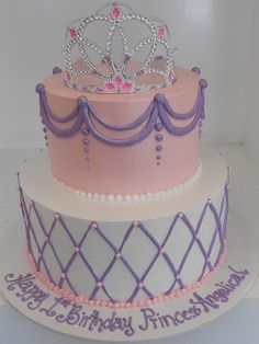 Girly buttercream Princess cake (2009) | www.asweetdesign.in… | Flickr