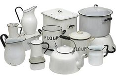 Vintage Kitchenware. I love enamelware is creative inspiration for us. Get more photo about home decor related with by looking at photos gallery at the bottom of this page. We are want to say thanks if you like to share this post to another people via your facebook, pinterest, google …