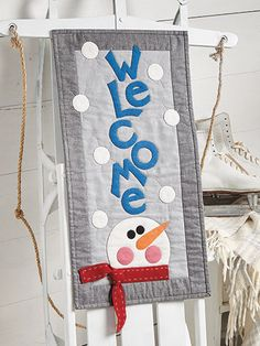 Winter Welcome Wall Hanging Pattern from Annie's. Order here: https://www.anniescatalog.com/detail.html?prod_id=140681&cat_id=1644